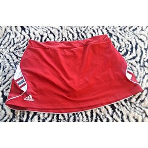 Red addidas tennis skirt